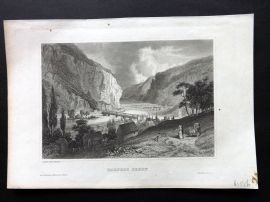 Meyer's Universum C1850 Antique Print. Harper's Ferry, Virginia